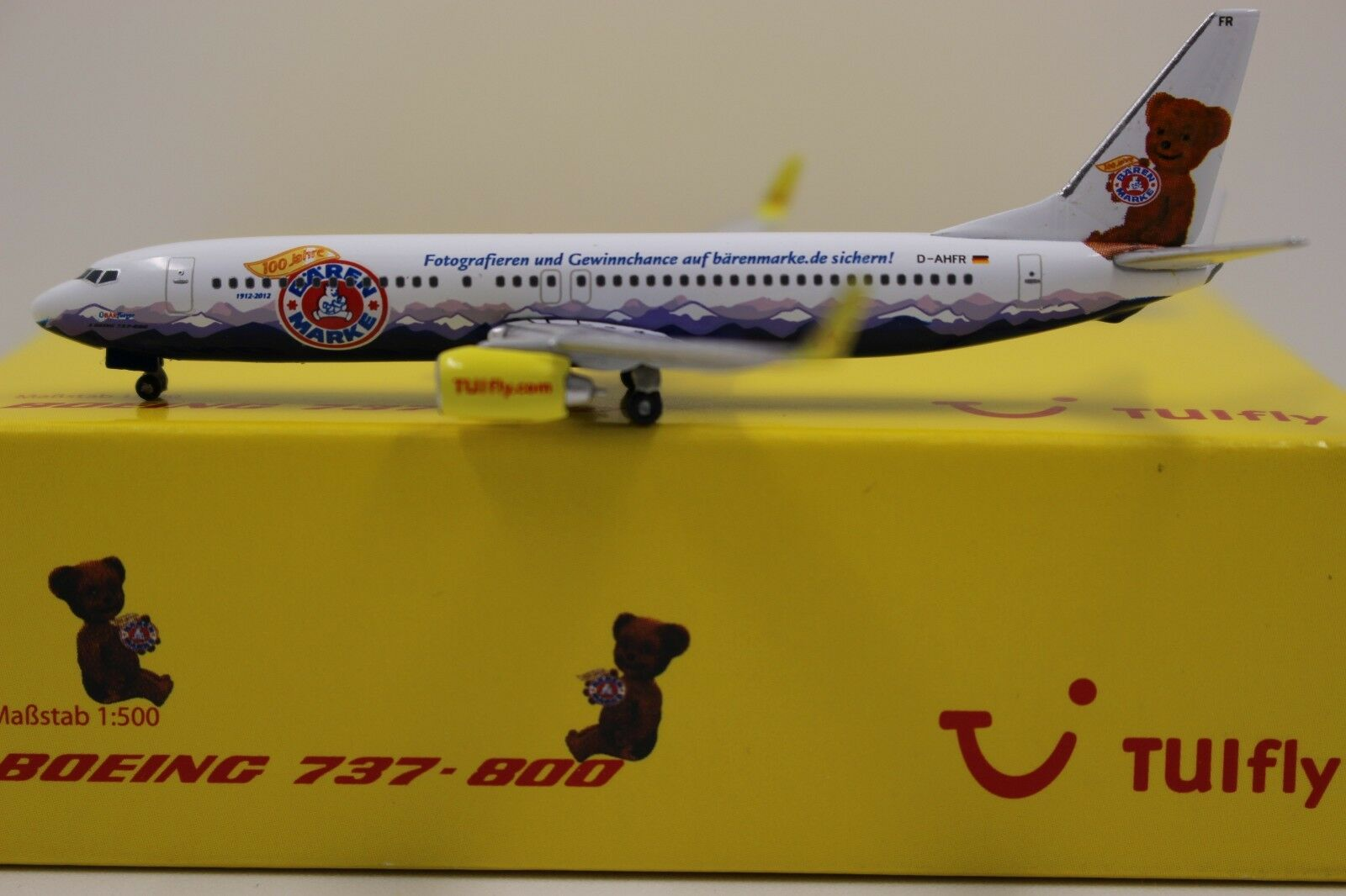 Herpa Wings 1 500 TUIfly boeing 737-800 bärenmarke (523400) (523400) (523400) aba795