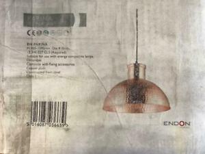 ENDON LIGHTING EH-PARINA COPPER PENDANT