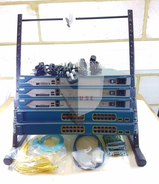 CISCO CCNA CCNP LAB KIT 2801 Routeur 3560 PoE Switch Layer 3 dernières IOS 15.