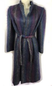 Uld Fuldt En Blend Long Color Trigere Multi Jacket Foret Coat Bæltet Fuzzy 4 vgwxB8qOv