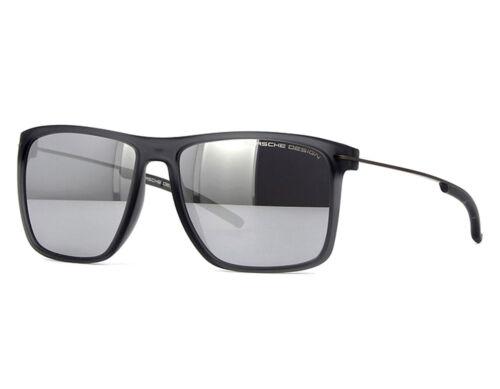 NEW Porsche Design P8636 D 58mm Transparent Grey Silver Mirror Sunglasses