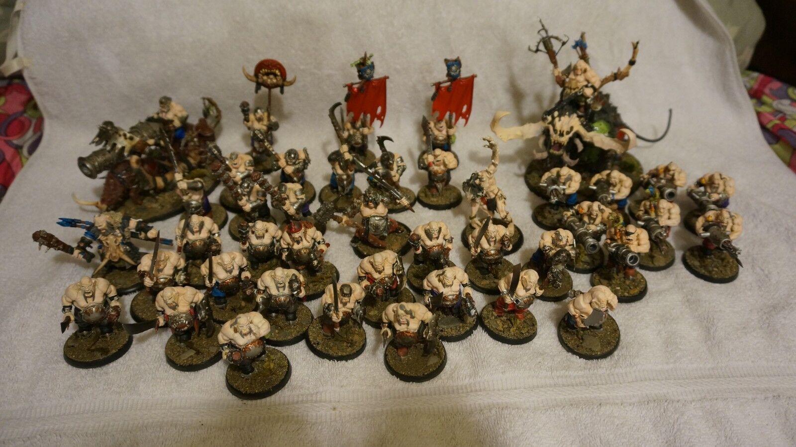 Warhammer FB edad de Sigmar gutbusters ogors Grande Buen Pintado Ejército ogro Reino