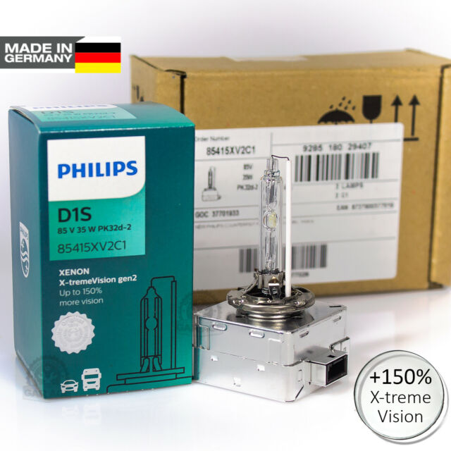 0f0c7e4c580 D1s Xenon Philips X-tremevision Gen2 150 Car HID Light Bulbs Pk32d-2 ...