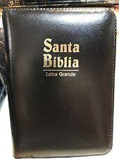 Bíblia Letra Grande Bolsillo  NEGRO Cierre Con Índice Reina Valera 1960