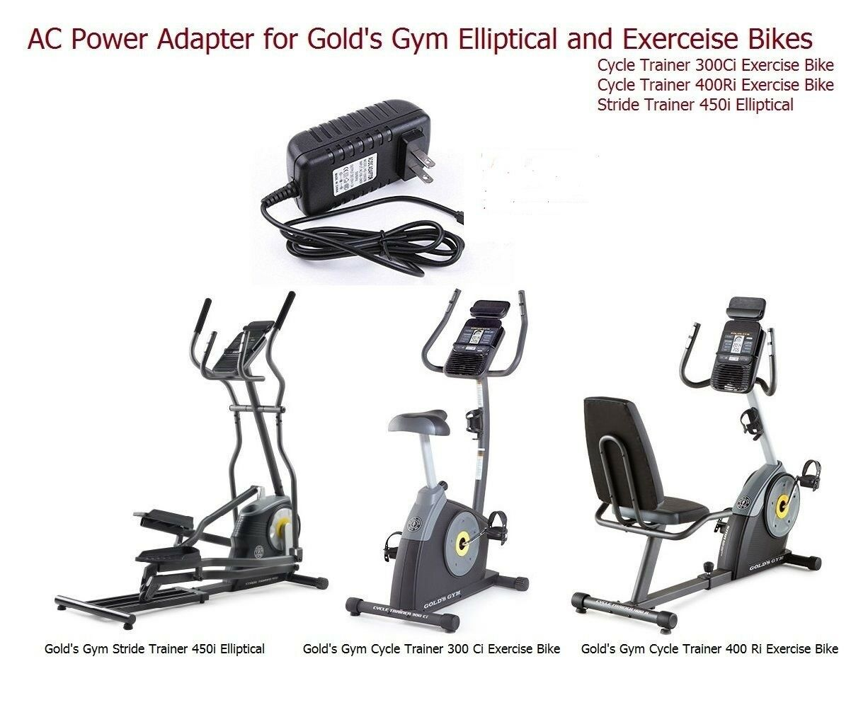 AC Adapter Power Supply for Gold's Gym Elliptical & Cycle Trainer Excerise Bikes