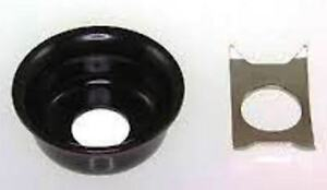 034-Fender-Telecaster-034-style-jack-socket-cup-with-clip-Black-NEW-FREE-POSTAGE