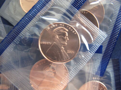 2005 Lincoln Cent Roll of 50 Satin Cents BU in Plastic