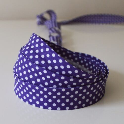 grandes colores Recortar//Ribete Cinta de unión de algodón irregular Polka sesgo de 3//4 pulgadas 18mm