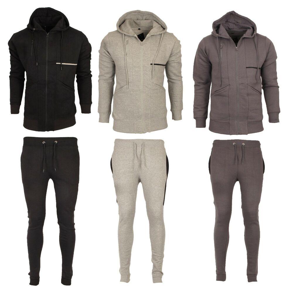 Hommes Survêtement Set Hoodies Gym Fitness Pantalon De Survêtement Veste Sport Costume