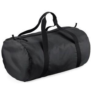 Bagbase Packaway Barrel Bag Pliable Holdall Gym Sports Travel Duffle (bg150)-afficher Le Titre D'origine