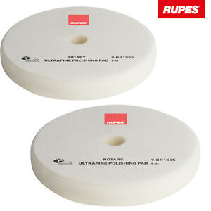 2x Rupes Rotary Polierschwamm Polierscheibe ultrafine sehr weich Ø130/135mm