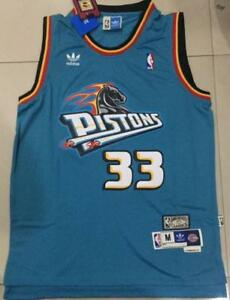 san francisco 75874 a6f18 Details about NWT Detroit Pistons Grant Hill teal Jersey