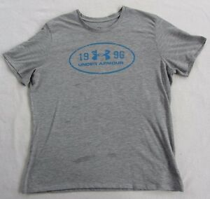 Under-Armour-Women-039-s-Heat-Gear-S-S-Crew-Neck-Gray-Athletic-T-Shirt-Size-XL