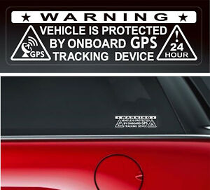 4-X-Warning-Sticker-Security-Vehicle-GPS-Tracking-Car-Window-Safety-Protection