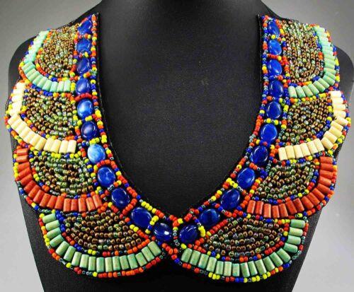 Nouveau Design énorme Lady Statement Crystal Multi Chunky Chaîne Charme Collier 877
