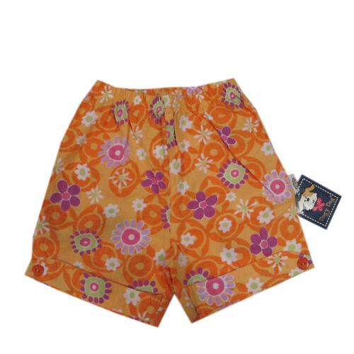 Dogy Dog Hosen kurze Hose Shorts orange mehrfarbig Baumwolle Mädchen Gr.92