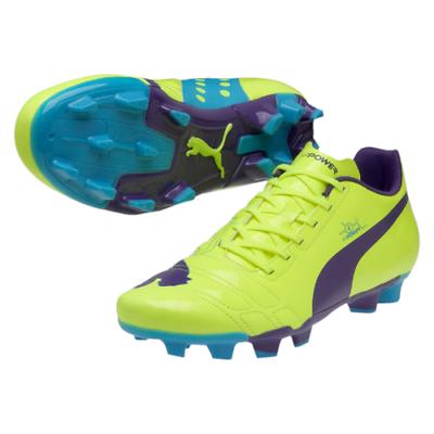 Dettagli su Puma evoPOWER 4 FG fluo giallo viola Scarpe Da Calcio Misura UK 7 & 10 mostra il titolo originale