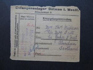 Germany-1915-POW-Cover-to-Scotland-London-Paid-Machine-Cancel-Z9645