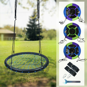 100cm-40-034-Mixed-Color-Tree-Swing-Spinner-Swing-Saucer-Nest-Kids-Swing-Set-Seat