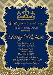 Image Is Loading Prince Baby Shower Invitation King Boy