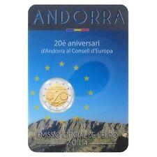 """**Andorra  2014 - BU Coincard """"20 jaarLidmaatschap Raad van Europa""""- In Stock!"""