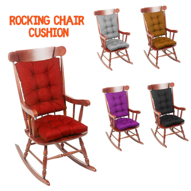 2 x Deck Chair Cushion Seat Pad Thick Recliner Lounge Chairs Garden Patio Office