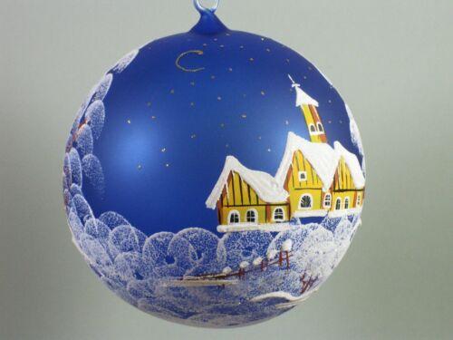 Verschiedene Farben. 20 cm Weihnachtskugel handbemalt d