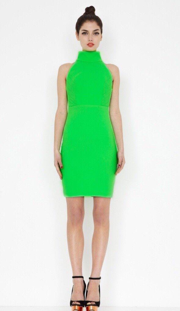 Aqua By Aqua Secil Dress Size 14 Brand New Green Aqua Couture