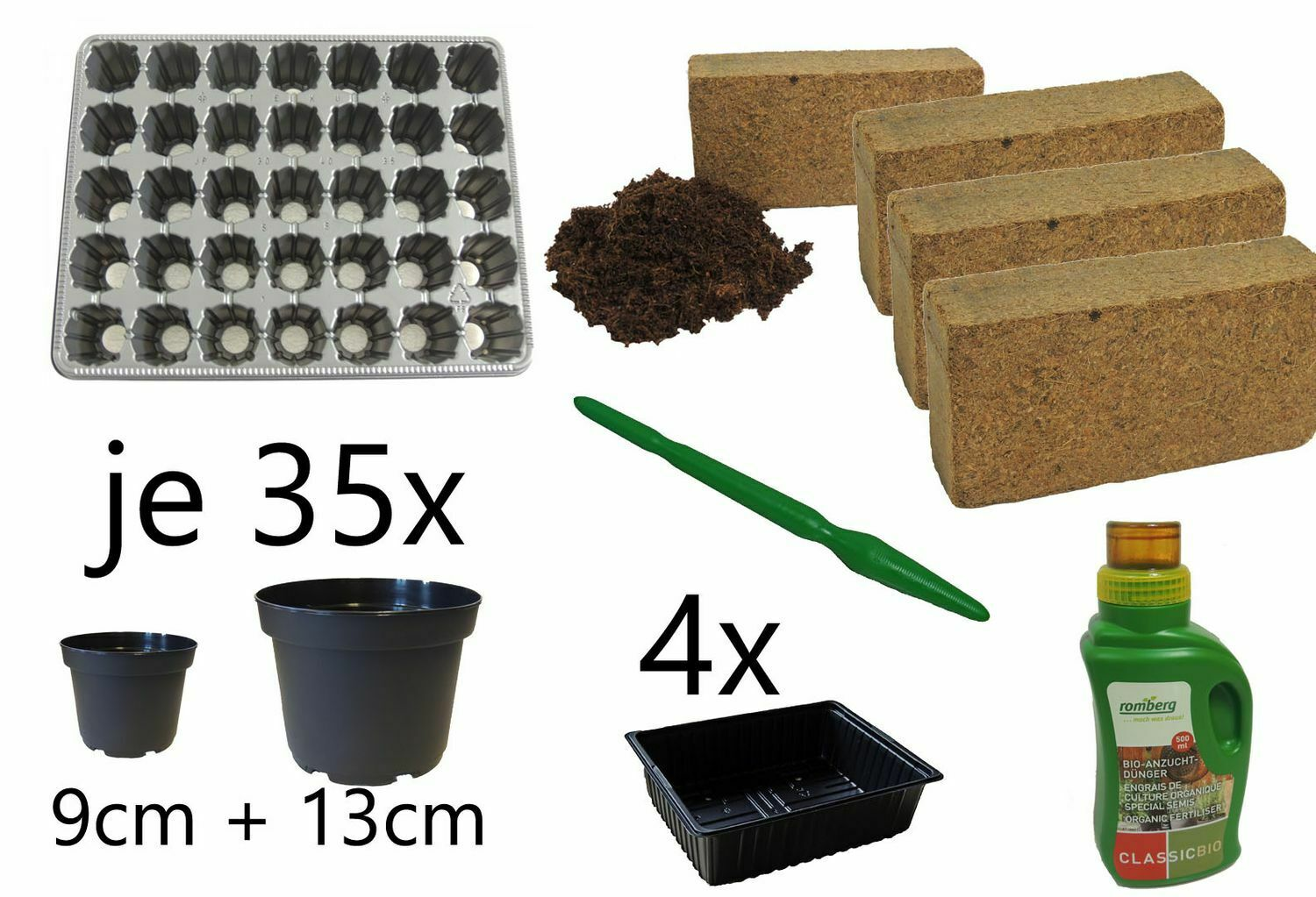 Breeding Sowing And Pikierset 81-Teilig For 35 Plants Tomatoes Chili Paprika