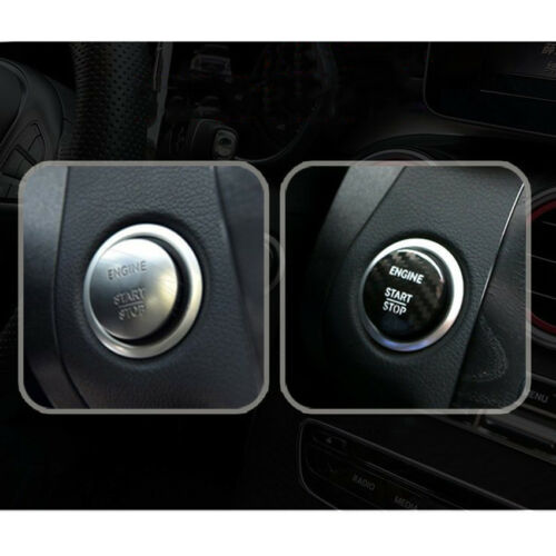 Car Engine Button Starter Power Switch Cover Sticker For Benz C Class GLC C200l