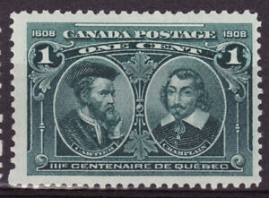Canada-SC-97-1c-Centenaire-de-Quebec-MLH-VF