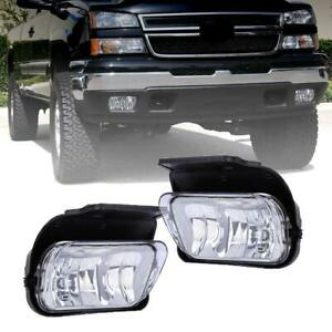 For-03-06-Chevy-Silverado-1500-2500-3500-Clear-Bumper-Driving-Fog-Lights-Bulbs