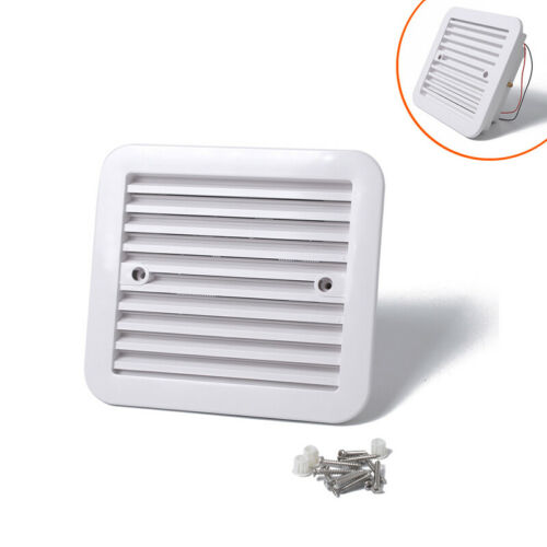 1x 12V White Air Vent with fan RV Trailer Caravan Side Air Ventilation Dustproof