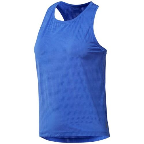 CF3363 Reebok Women/'s Les Mills Perforated Tank Top Acid Blue