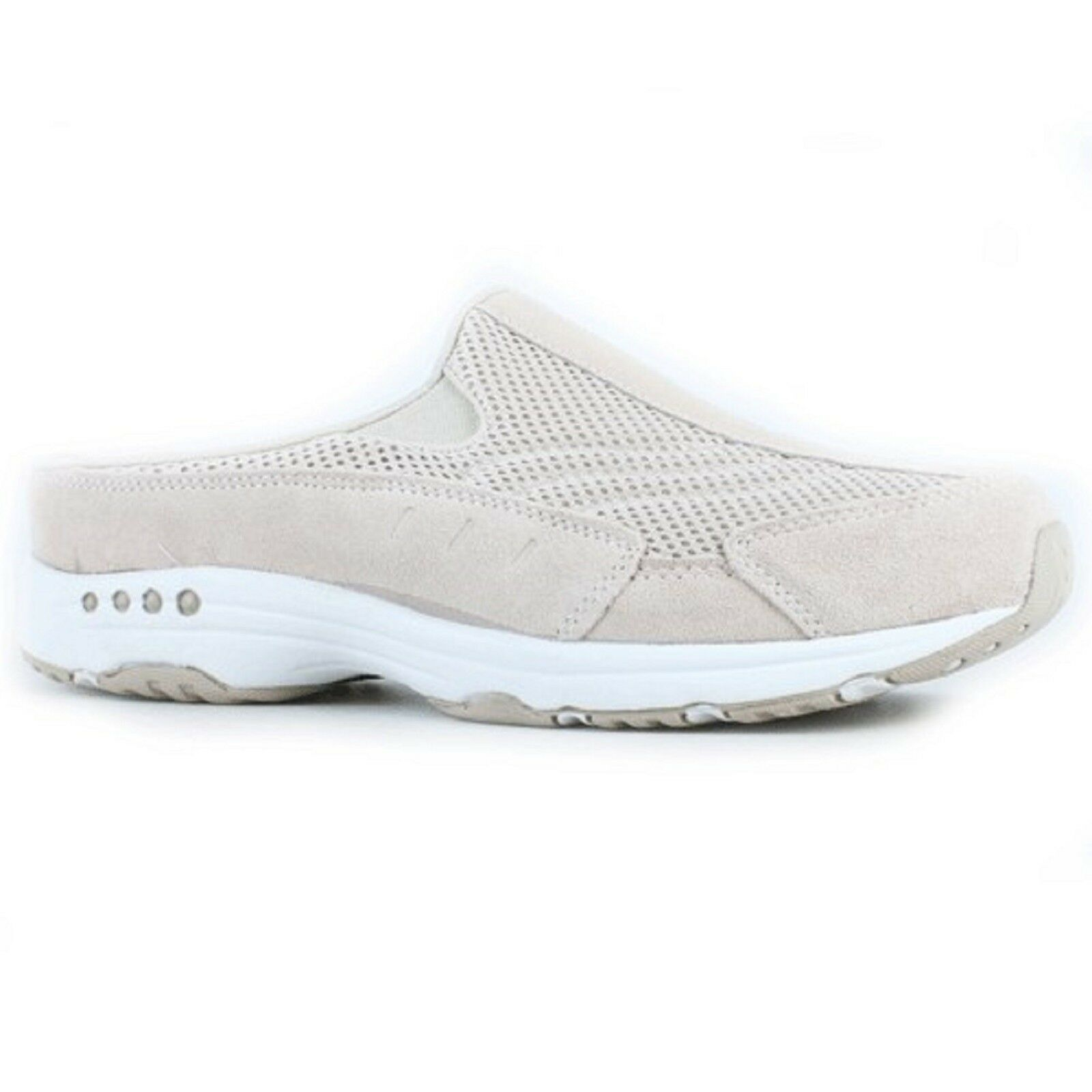 Women Easy Spirit TRAVEL TIME Natural Rubber Sole Slip-On Mule Walking Shoes