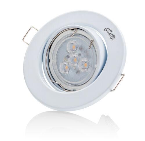 LED Einbaustrahler 230V GU10 Schwenkbar DECORO Deckenstrahler Einbauleuchte