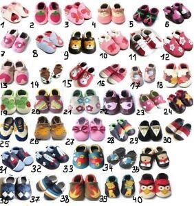 Babyschuhe-Krabbelschuhe-Lederpuschen-Puschen-Hausschuhe-Ballerinas-Tauf