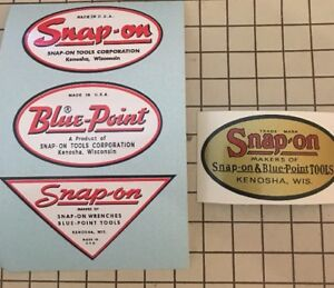 Snap-on-tools-Blue-Point-Decals-restore-tool-boxes-vintage-rat-rod-Price-Drop