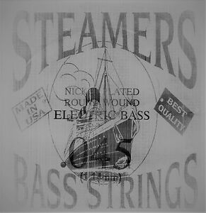 045-Gauge-034-STEAMERS-034-Single-Round-Wound-Electric-Bass-Guitar-String-USA-Made