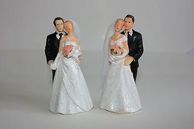 Sposa E Sposo Cake Topper, Matrimonio, Resina Dipinti A Mano, Circa 10cm X 5cm- Elegante Nello Stile