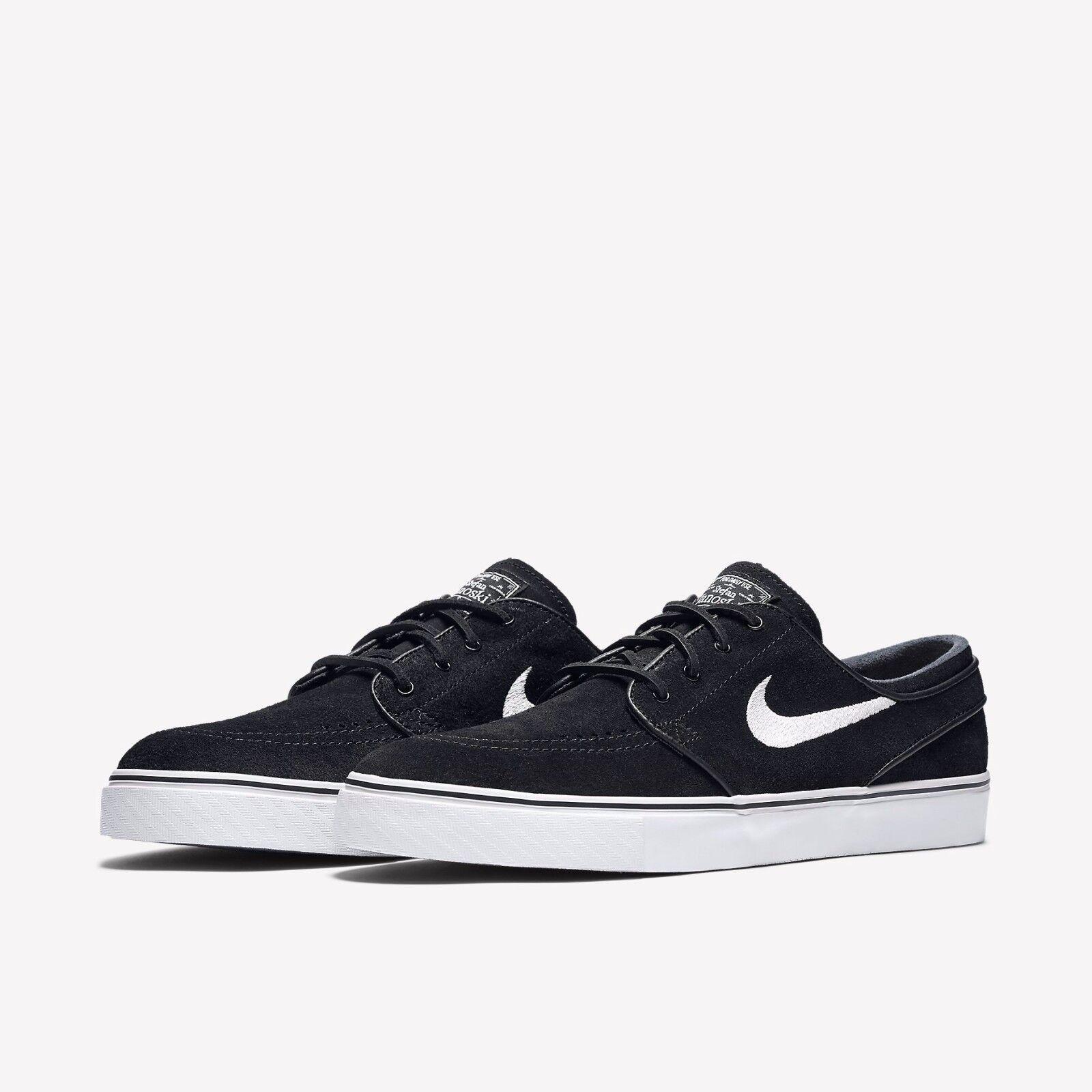 Nike SB Zoom Stefan Janoski Hommes Suede Noir blanc  Chaussures Brand New