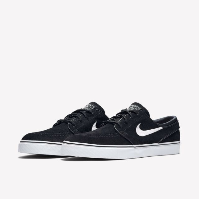 44c957a70f7 Nike SB Zoom Stefan Janoski Mens Suede Black White Shoes Brand New Size UK  10
