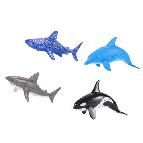 4PC Transformation Ocean Animal Figures Toys Robots Educational Toy for Kids