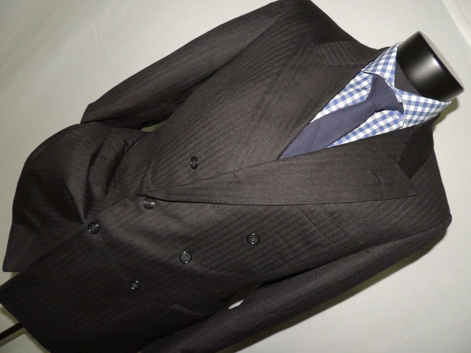 Bespoke By Bill Cairo vintage grau Double Breasted suit coat 38 R pants 32X30