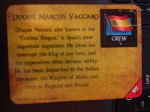 Pirates of the Barbary Coast #072 Duque Marcus Vaccaro Pocketmodel CSG NrMt-MINT