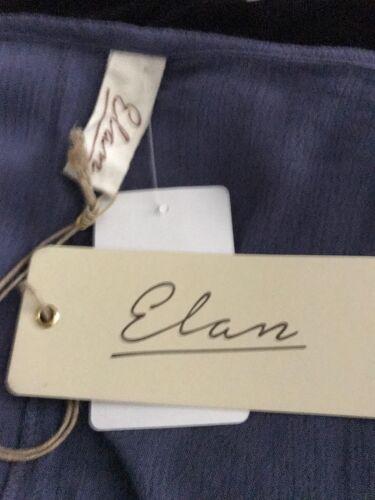 Elan New Sz S Blue Cold Shoulder Top Blouse Tunic Tassel Tie Crochet Long Sleeve