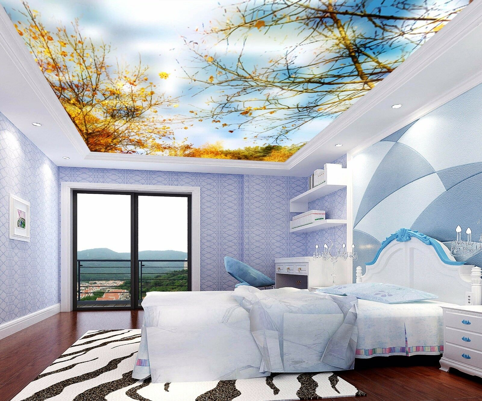3D Autumn Trees 6 Ceiling WallPaper Murals Wall Print Decal Deco AJ WALLPAPER UK