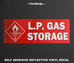 Reflective-LPG-Storage-Danger-Warning-Sticker-Gas-Bottle-Sign-Safety-Decal-L002