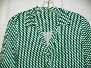 Ladies-Short-Sleeve-Golf-Shirt-Blk-White-Green-Small