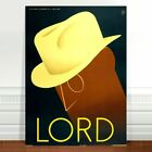"Stunning Vintage Fashion Poster Art ~ CANVAS PRINT 8x10"" ~ Lord hats"